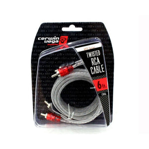 Cerwin Vega Hed Series 2-channel Rca Cable 6ft Twisted Pair Single Molded Ends