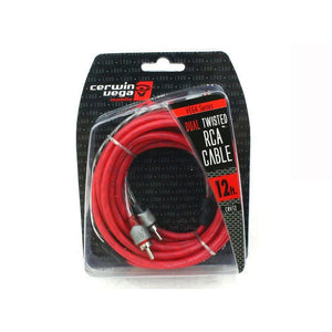 Cerwin Vega Vega Series 2-channel Rca Cable 12ft Dual Twisted Dual Molded Ends