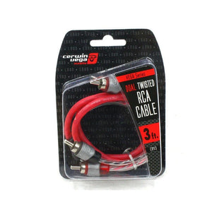 Cerwin Vega Vega Series 2-channel Rca Cable 3ft Dual Twisted Dual Milded Ends