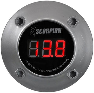 Xscorpion Voltmeter Digital 3 Digit Led Display Silver