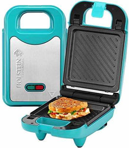 Holstein Housewares Multi Maker With Interchangeable Plates Teal Ss