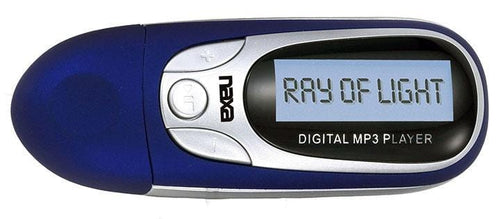 Naxa Blue Mp3 Player With 4gb Built In Flash Memory Lcd Display