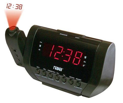 Naxa Projection Dual Alarm Clock Radio