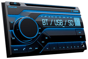 Planet Double Din Mp3-cd-am-fm Receiver Bluetooth Multi Color Display