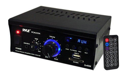 Pyle Mini 2ch Amplifier With Usb