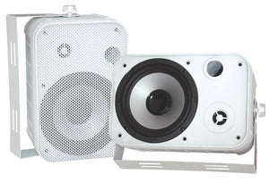 "Speakers 6.5"" White Outdoor Pyle Pro; Pair"