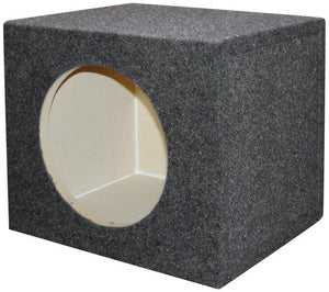 "Empty Woofer Box 10"" Square Qpower"