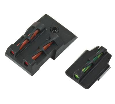 Hiviz Front And Rear Sight Set For Ruger Security 9 Green Red White & Black Litepipes