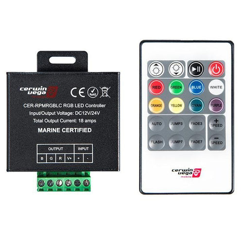 Cerwin Vega Rf Remote Controlling Multiple Rgb Led Functions Such As Colors Brightness Fade Speed