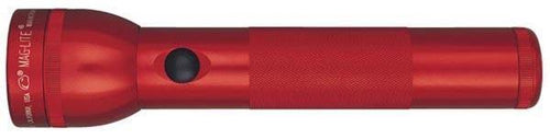 Maglite 2 Cell D  Flashlight Red-blister Pack