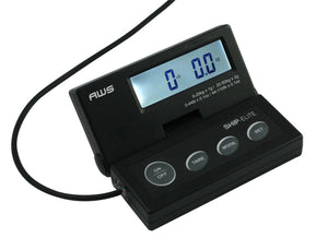 Aws Se-50 Ship Elite Black Low Profile Shipping Scale Backlit Lcd And 110-pound Capacity