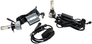 Street Vision H4 Cats Eye Led Headlight Conversion Kits - Dual Function Kit With Driving And Accent