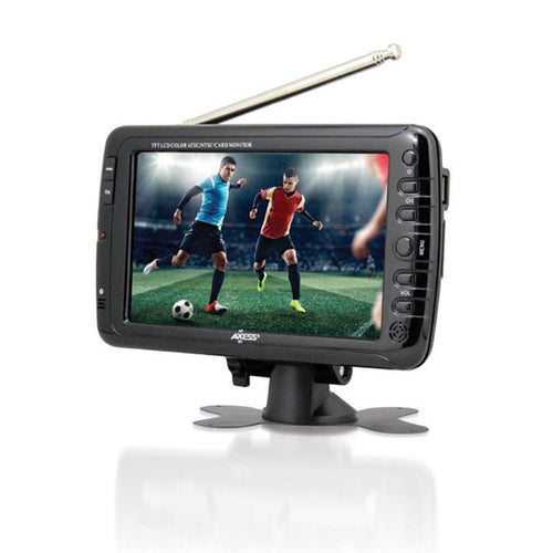 Axess 7-inch Lcd Tv With Atsc Tuner Rechargeable Battery And Usb-sd Inputs