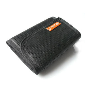 Hazard 4 Clip Tri-fold Security Belt-clip Wallet In Black Leather