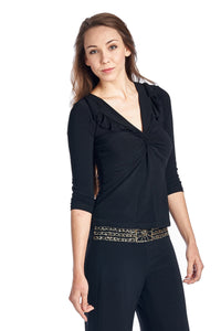 Women's 2 Piece Blouse and Sequin Waistband Pants