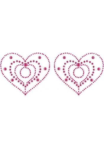 Pasties Crystal Heart Pink(peekaboo Crystals)
