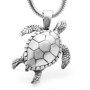 Sea Turtle Silver Necklace