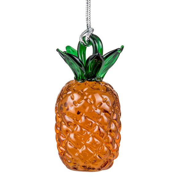 Art Glass Ornament: Pineapple