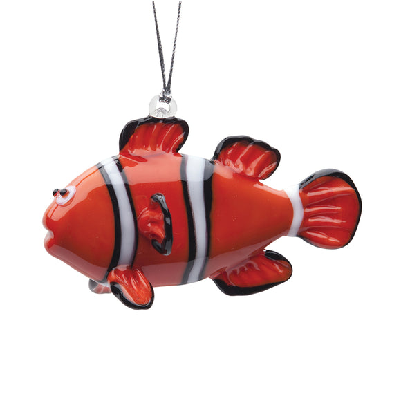 Art Glass Ornament: Clownfish