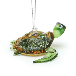 Art Glass Ornament: Honu (Green)