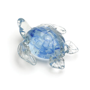 Art Glass Figurine: Sea Turtle – Blue Glow