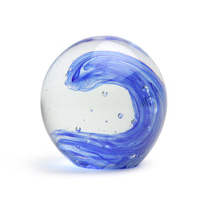 Art Glass Paperweight: Wave Glow