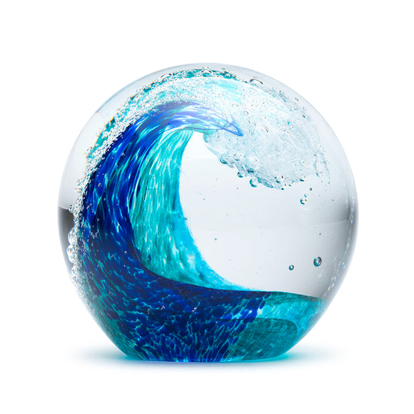 Art Glass Paperweight: Tropical Wave
