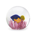 Art Glass Paperweight: Tropical Fish