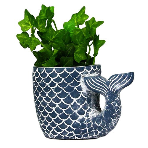 Ceramic Mermaid Tail Planter