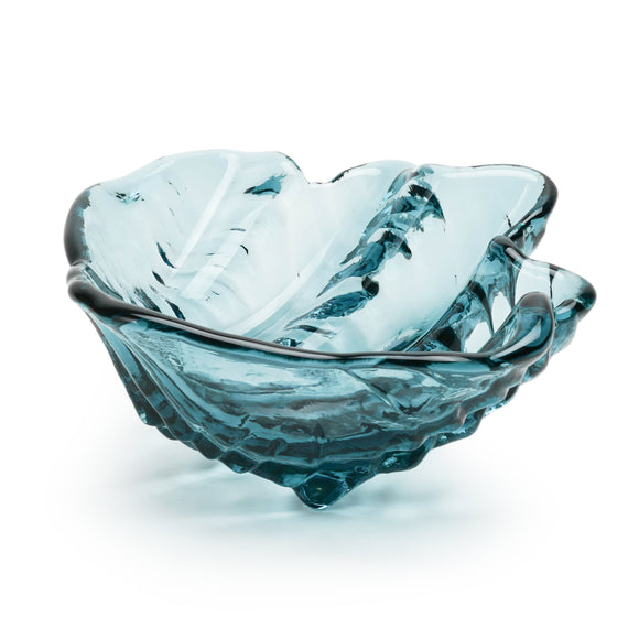 Art Glass Clam Shell Bowl