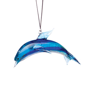 Art Glass Ornament: Dolphin