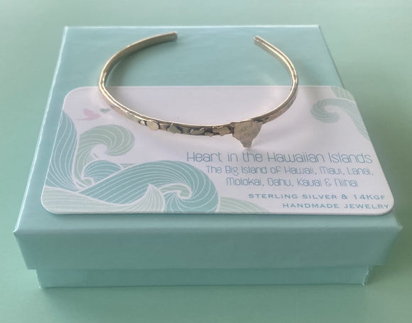 Hawaiian Islands Cuff Bracelet in 14K Gold Fill