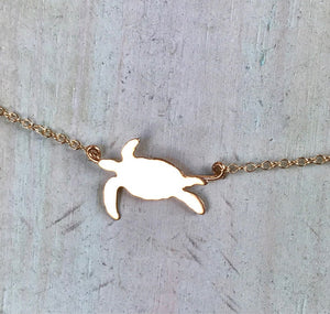 Honu Hawaii Necklace in 14K Gold Fill
