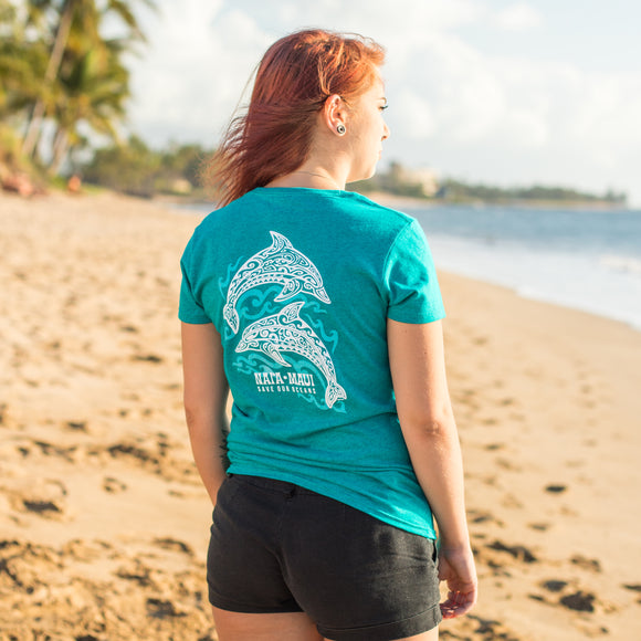 Women's Short Sleeve Tahiti Dolphin T-Shirt