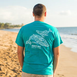 Men's Tahiti Whale (KOHOLĀ) Short Sleeve T-Shirt