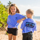 Square Whale Tail Short-Sleeve Youth T-shirt