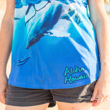 Wearable Art - Breaching Whale Dolman Sleeve T-Shirt