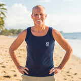 Men's Tahiti Whale Tank In Navy or Charcoal