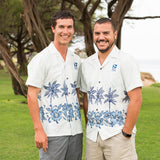 Men's Hibiscus and Palm Aloha Shirt