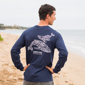 Men's Tahiti Whale (KOHOLĀ) Long Sleeve T-Shirt