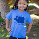 Grover Whale Toddler T-Shirt in Cornflower Blue