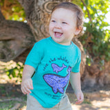 Marble Momma Toddler T-Shirt in Seafoam