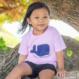 Grover Whale Toddler T-Shirt in Blush