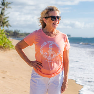 Peaceful Ocean Women's T-Shirt in Creamsicle