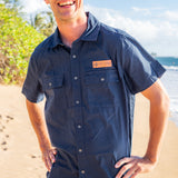 The Foley Patch Shirt - Navy