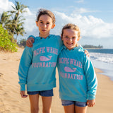 Double Time Youth Hoodie in Surf Blue/Pink