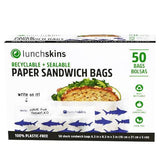 Recyclable + Sealable Paper Sandwich & Snack Bags - Shark