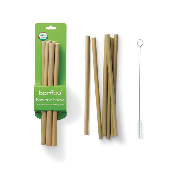 Reusable Bamboo Straws - 8-1/2