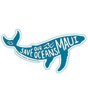 Save Our Oceans Sticker Pacific Whale Foundation Maui Hawaii