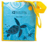 Recycled tote bag turtle Pacific Whale Foundation